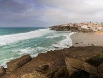 普腊亚das马卡斯在葡萄牙 免版税库存照片