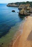 普腊亚dos Beijinhos Lagoa,葡萄牙 库存照片