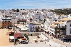 普腊亚dos Pescadores和阿尔布费拉老镇,阿尔加威,葡萄牙 库存图片