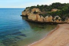 普腊亚dos Tremocos Lagoa,葡萄牙 免版税图库摄影