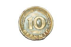 10普芬宁硬币 免版税库存图片