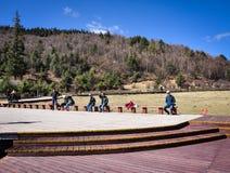 普达措国家公园在云南,中国 免版税库存照片