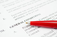 普通保险条款 免版税图库摄影