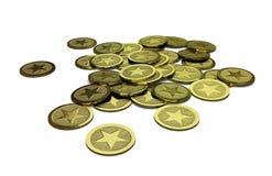 普通堆硬币 免版税库存照片