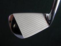 普通干净的发光的优美的高尔夫俱乐部铁头特写镜头图象 免版税图库摄影