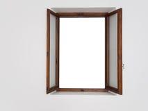 普通开窗口 构成木头 库存照片