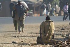 普通的农村生活在埃塞俄比亚,非洲 免版税库存图片