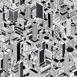 普通等量城市无缝的样式 向量例证
