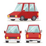 普通红色在白色隔绝的汽车豪华设计平的传染媒介例证 图库摄影