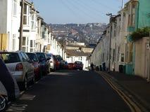 普通街道在布赖顿,英国 库存图片