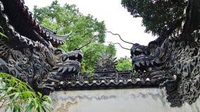 普通话Yu,上海,中国庭院  库存图片