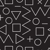 普遍在最低纲领派的传染媒介线形几何无缝的样式 库存例证