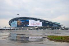 普遍橄榄球复杂`喀山竞技场`特写镜头在一个多雨劳动节 库存照片