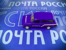 普遍汽车'俄国岗位'蓝色 免版税图库摄影