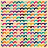 普遍用法的无缝的五颜六色的波浪 库存照片