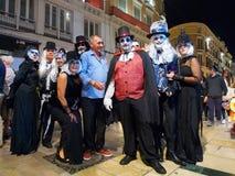 普遍的乐趣现代万圣夜2015年10月31日马拉加,西班牙 库存图片