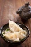 普遍的亚洲食物饺子汤 免版税库存图片