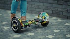 普遍的交通工具Hoverboard 灿烂 技能 股票视频