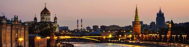 普遍的地标克里姆林宫鸟瞰图在莫斯科,俄罗斯 免版税图库摄影