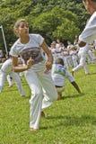普遍的战斗和舞蹈叫从巴西的capoeira 免版税库存图片