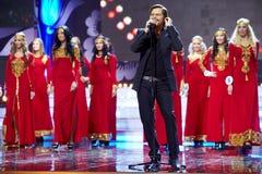 普遍的瑞典歌唱家Bosson开张音乐程序 库存图片