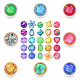 普遍的色的宝石裁减 皇族释放例证