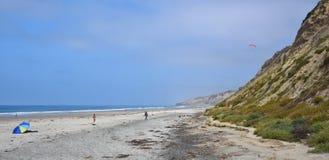 普遍的黑色的海滩在圣迭戈 库存图片