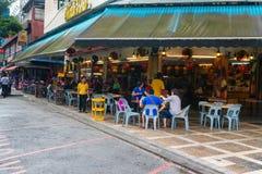 普遍的Bikit彬塘街道的吉隆坡中国餐馆 库存图片