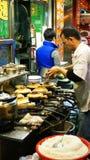 普遍的Claypot米餐馆在香港 免版税库存照片