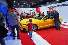 普遍的Ford Mustang显示 库存图片