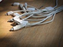 普遍USB充电的缆绳 库存照片