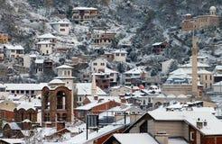 普里兹伦市在冬天 库存照片