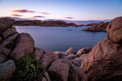 普里斯科特的亚利桑那Watson湖 免版税库存照片