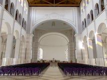 普里什蒂纳,科索沃- 2016年6月:保佑的真福加尔各答的德肋撒天主教大教堂  库存图片