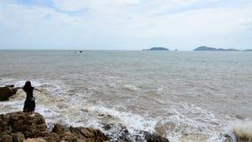 普陀山山紫竹林海滩 免版税库存图片