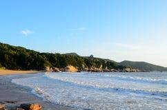普陀山山BaiBuSha海滩日出 库存图片