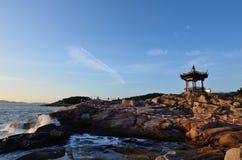 普陀山山BaiBuSha海滩 免版税图库摄影