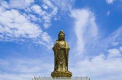 普陀山观音工业区古铜雕象  免版税库存图片