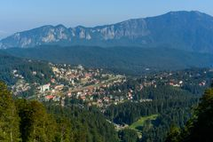 普雷代亚尔市,冒险每个季节,在布拉索夫,特兰西瓦尼亚,罗马尼亚附近的山区度假村 库存照片