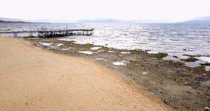 普雷斯帕湖在马其顿在11月,寄生虫摄影 库存图片