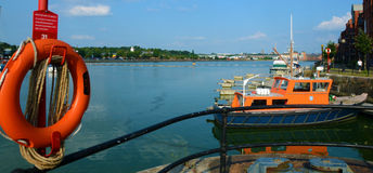 普雷斯顿船坞 库存照片