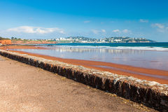 普雷斯顿铺沙海滩德文郡英国 免版税库存图片