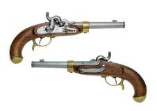 普鲁士人的古色古香的撞击声手枪 免版税库存照片