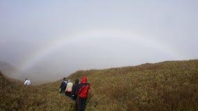 普洛格山山顶足迹 图库摄影