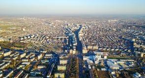 普洛耶什蒂,罗马尼亚,鸟瞰图 图库摄影