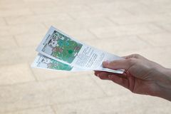 景山公园的票 免版税库存图片