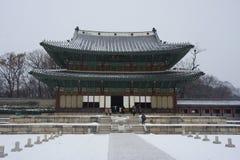 景福宫宫殿或Gyeongbok宫殿,位于北汉城的一王宫 库存照片