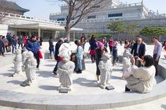 景福宫宫殿的游人 库存照片