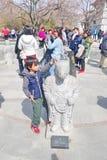 景福宫宫殿的游人 免版税库存照片