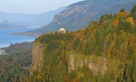 景色房子访客中心俄勒冈。 免版税图库摄影
